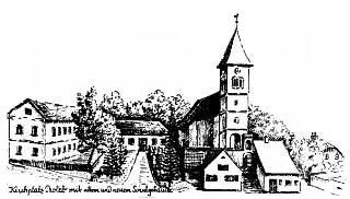 Kirchplatz mit Schule
